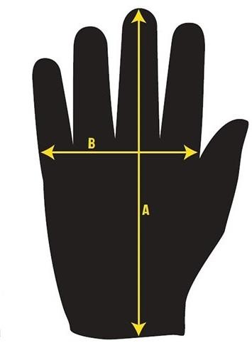 Rozměry rukavic